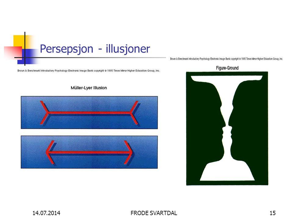 14.07.2014FRODE SVARTDAL15 Persepsjon - illusjoner