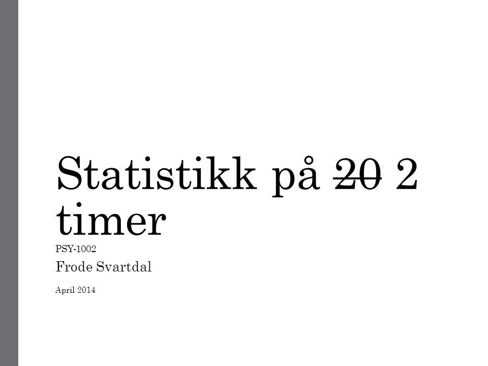 IKKE FÅ PANIKK!