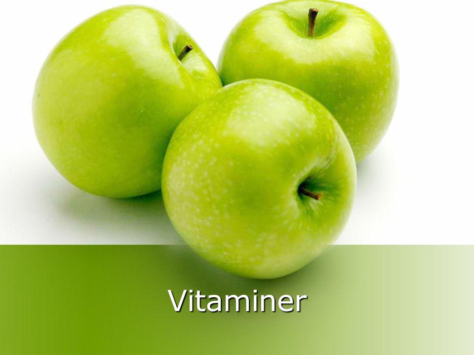 Vita betyr liv Vi kan ikke overleve uten vitaminer Kroppen kan ikke produsere (=lage) vitaminer selv Vitaminer ble oppdaget for ca 100 år siden.