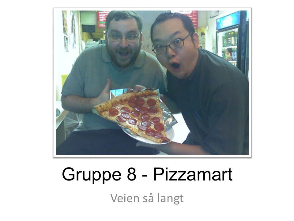 Gruppe 8 - Pizzamart Veien så langt