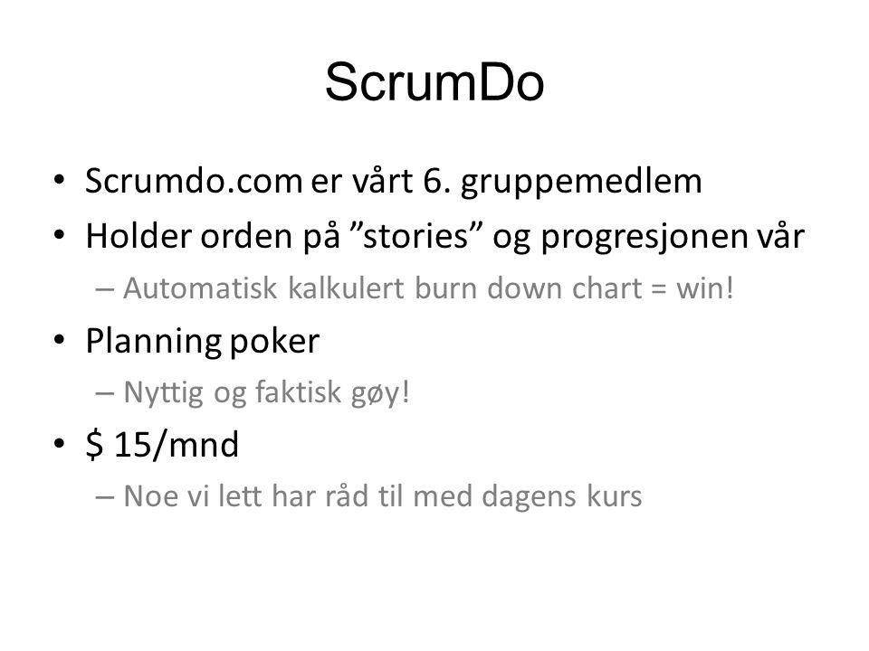ScrumDo Scrumdo.com er vårt 6.