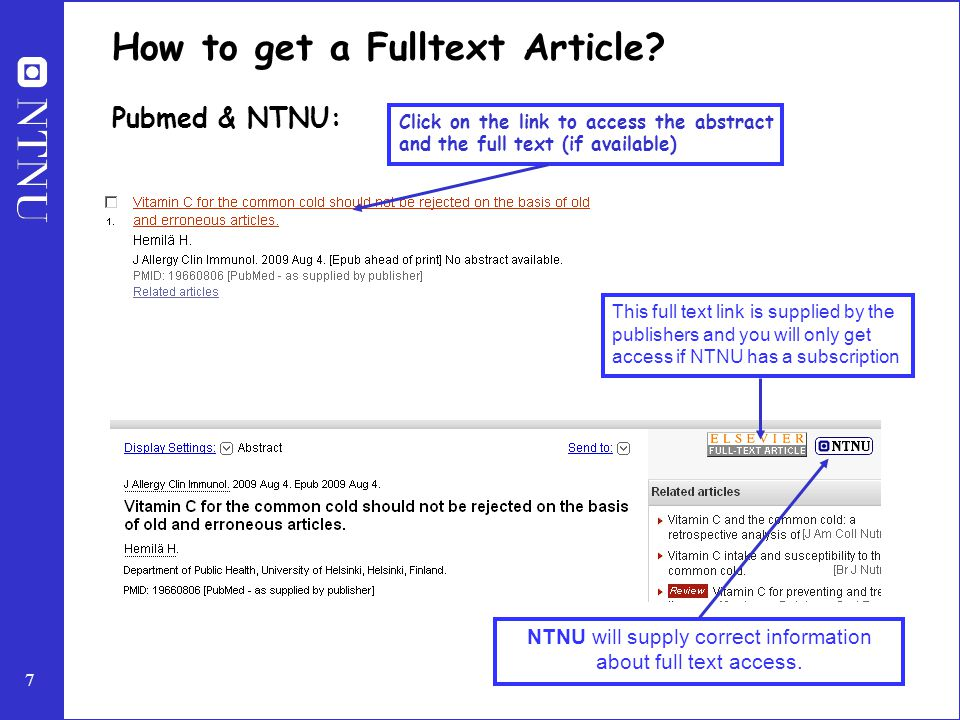 7 How to get a Fulltext Article.