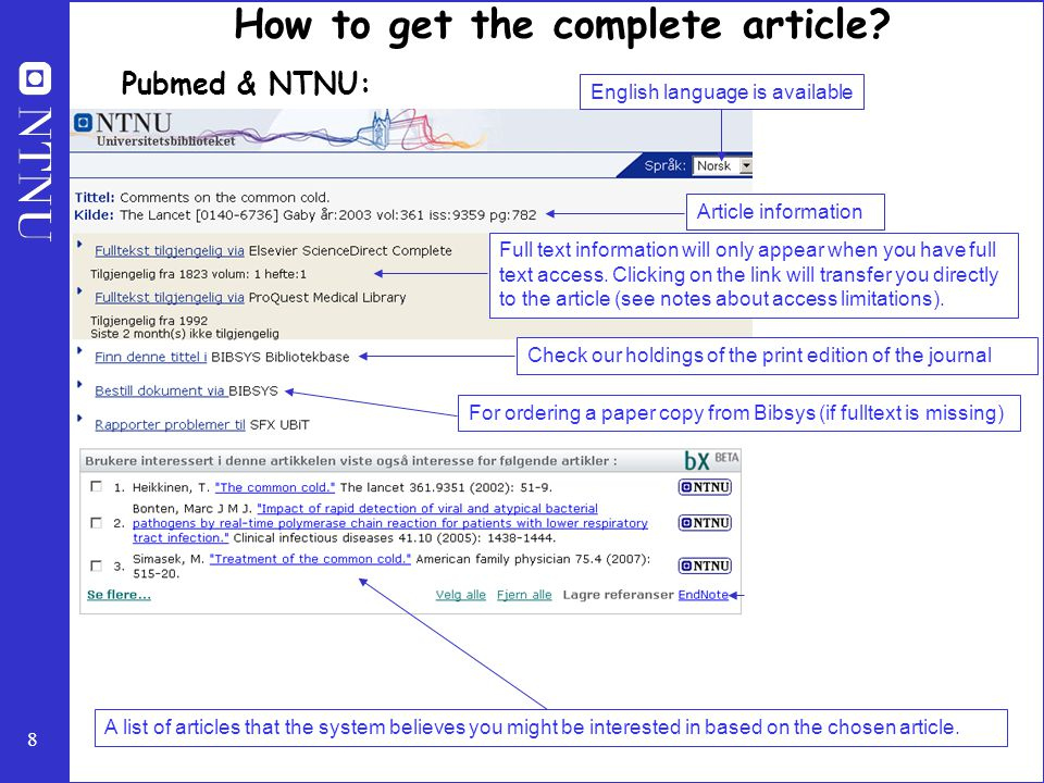8 Article information Full text information will only appear when you have full text access.