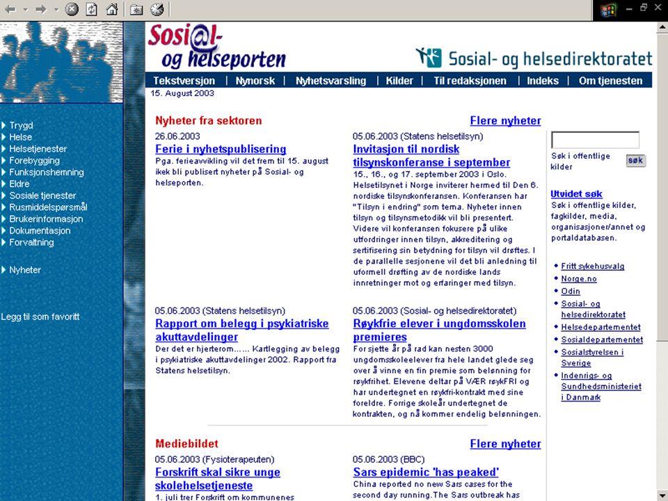 Sosial og helseporten