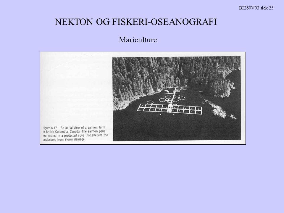 NEKTON OG FISKERI-OSEANOGRAFI BI260V03 side 25 Mariculture