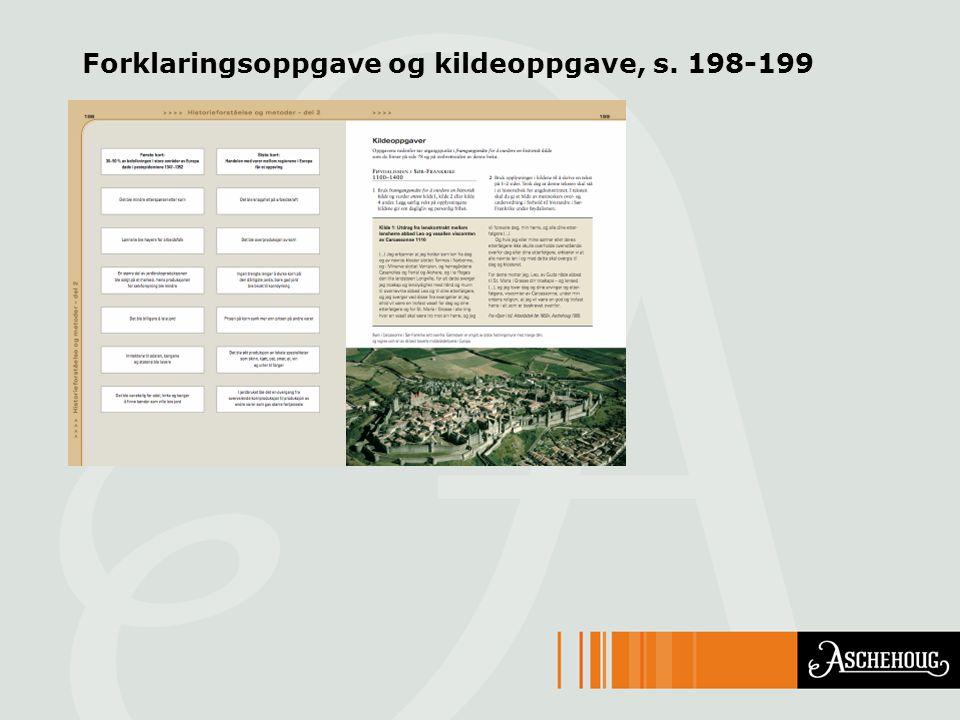 Forklaringsoppgave og kildeoppgave, s. 198-199