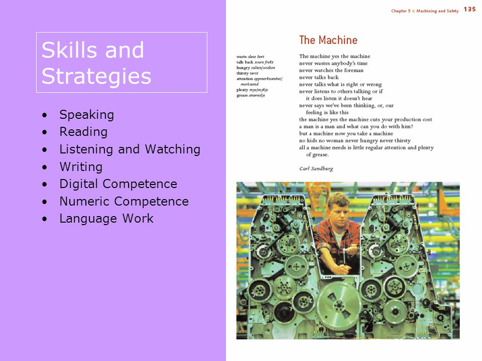 Speaking – oppgavetyper Being polite Expressing opinions Practising vocabulary Talking about it Giving information Describing a person Interaction Giving a description Role play Giving instructions Telling a story