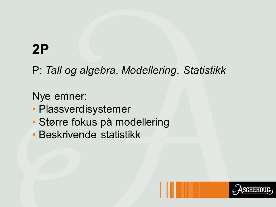 2P P: Tall og algebra.Modellering.