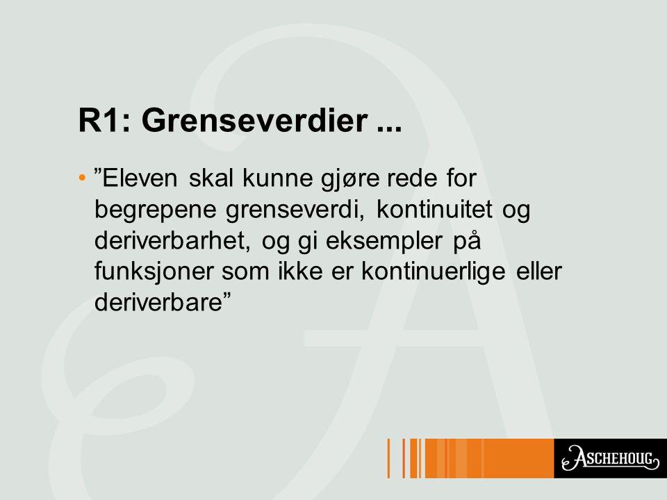 R1: Grenseverdier...
