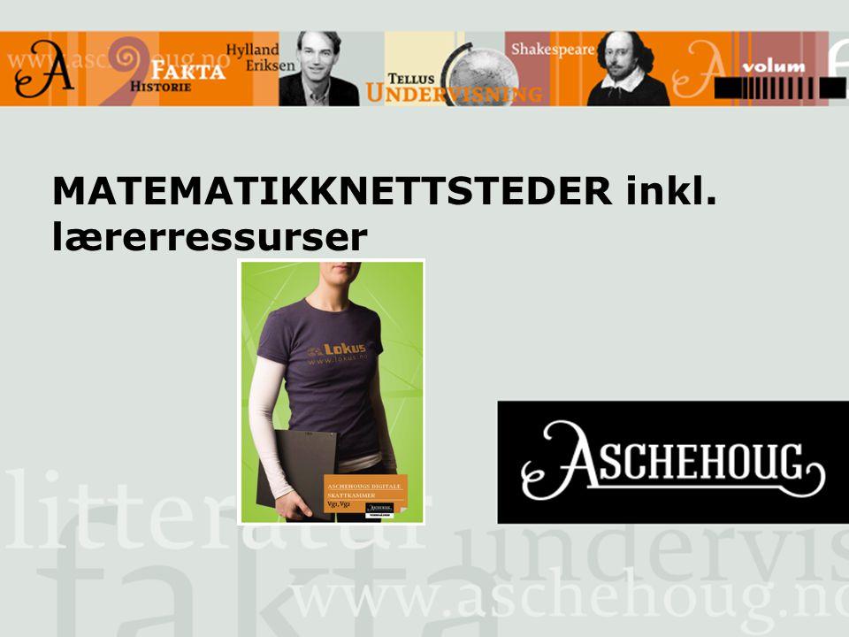 MATEMATIKKNETTSTEDER inkl. lærerressurser
