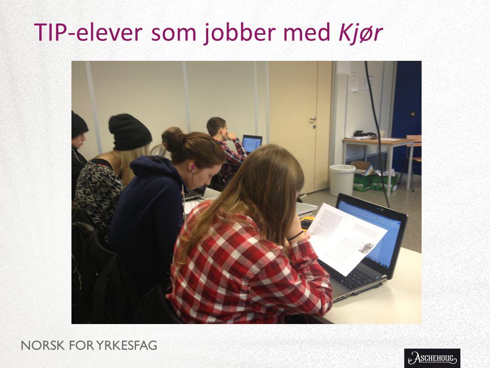 TIP-elever som jobber med Kjør