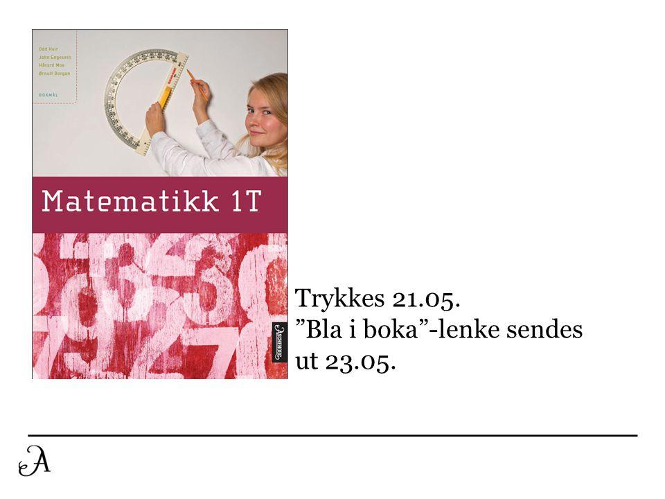 """Trykkes 21.05. """"Bla i boka""""-lenke sendes ut 23.05."""