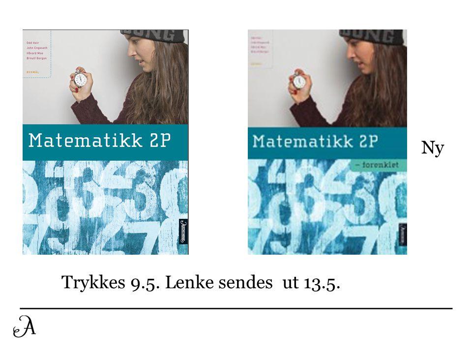 Trykkes 9.5. Lenke sendes ut 13.5. Ny