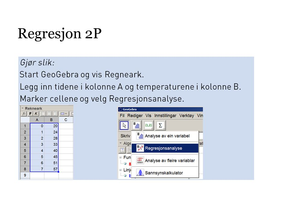 Regresjon 2P