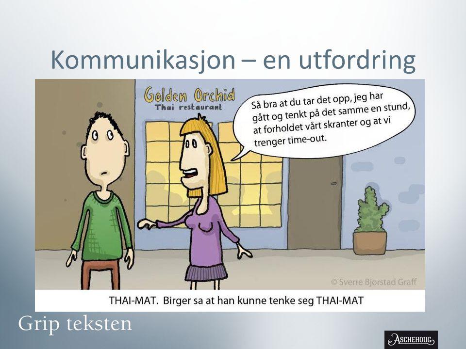 Kommunikasjon – en utfordring