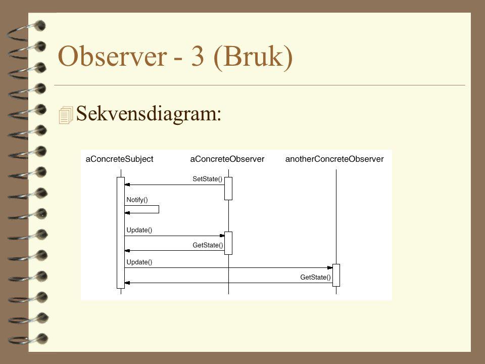 Observer - 3 (Bruk) 4 Sekvensdiagram: