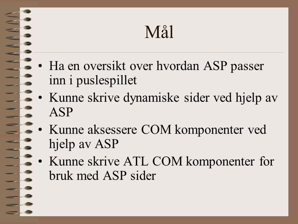 ASP og IUnknown http://gnats/asp- sample/12- 1AspStructs.asphttp://gnats/asp- sample/12- 1AspStructs.asp Det går ikke å aksessere funksjoner som ikke er oleauto.