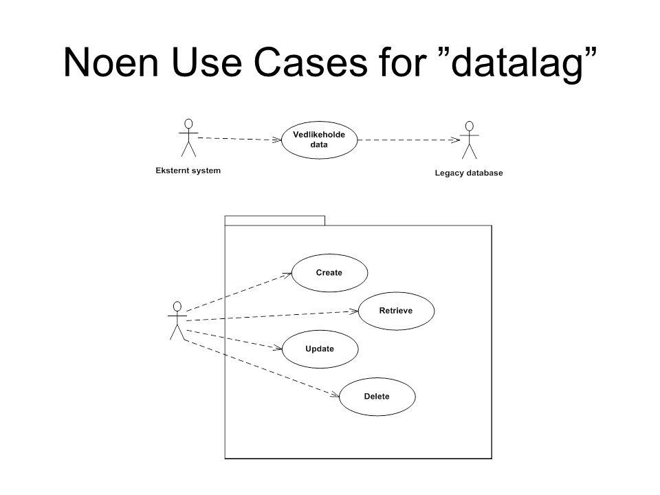 Noen Use Cases for datalag