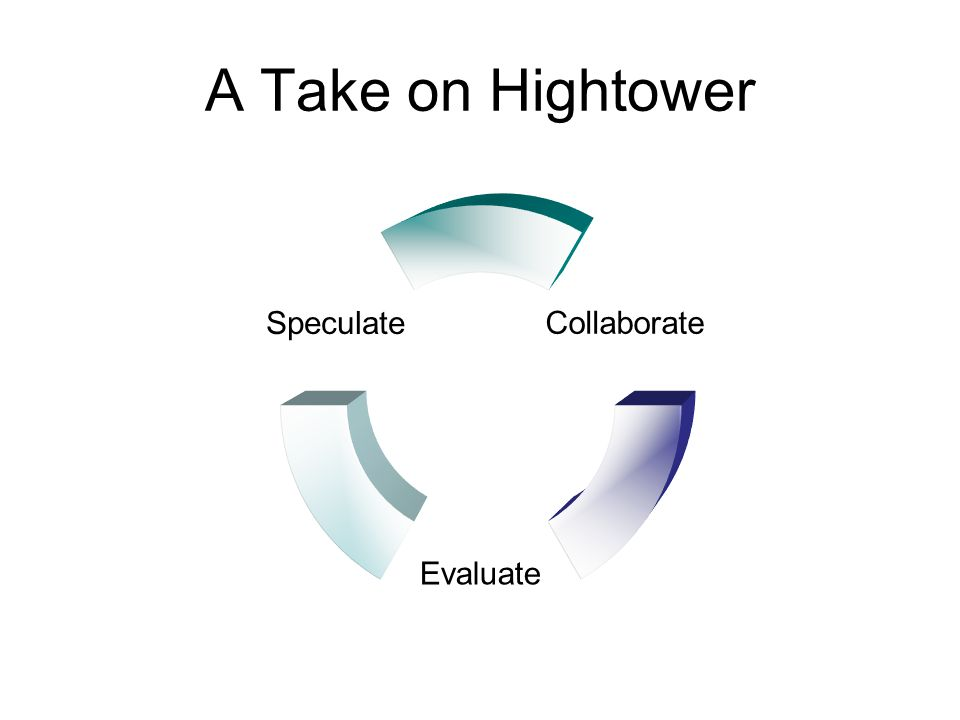 A Take on Hightower Collaborate Evaluate Speculate