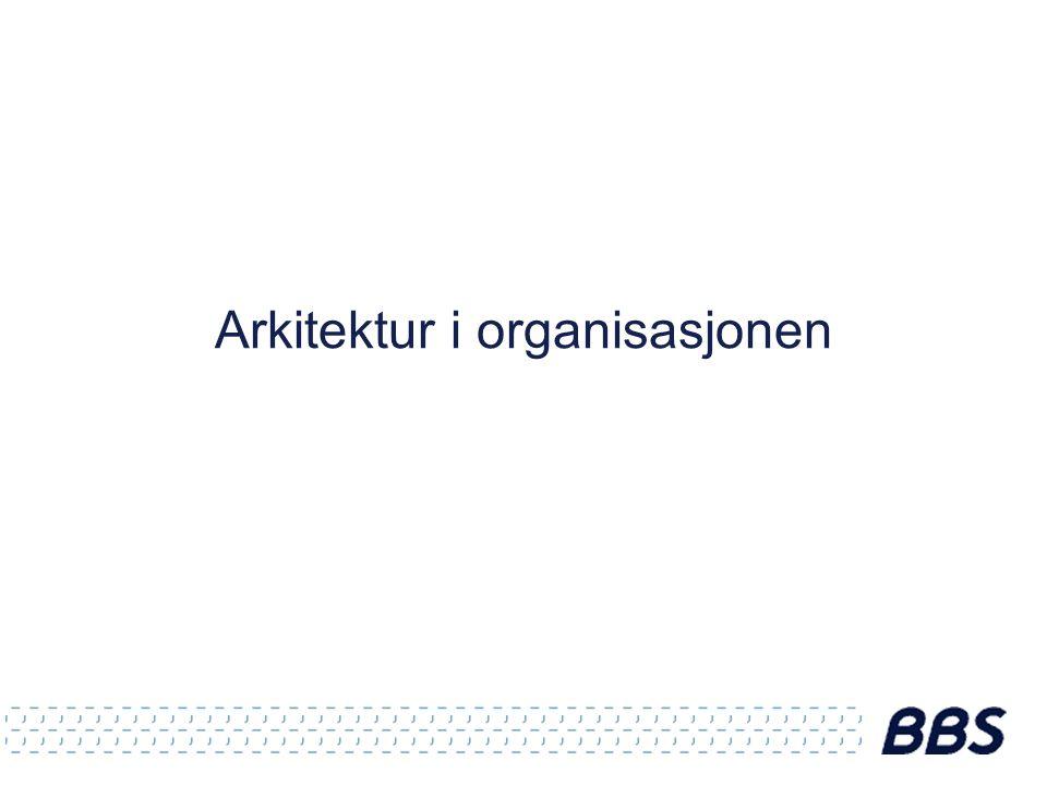 Arkitektur i organisasjonen