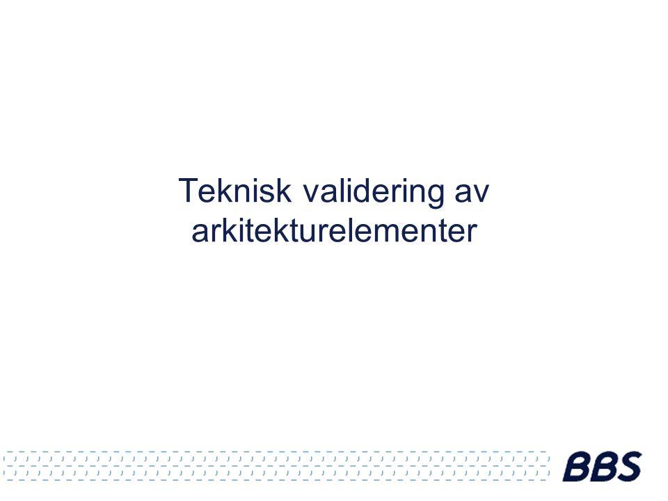 Teknisk validering av arkitekturelementer