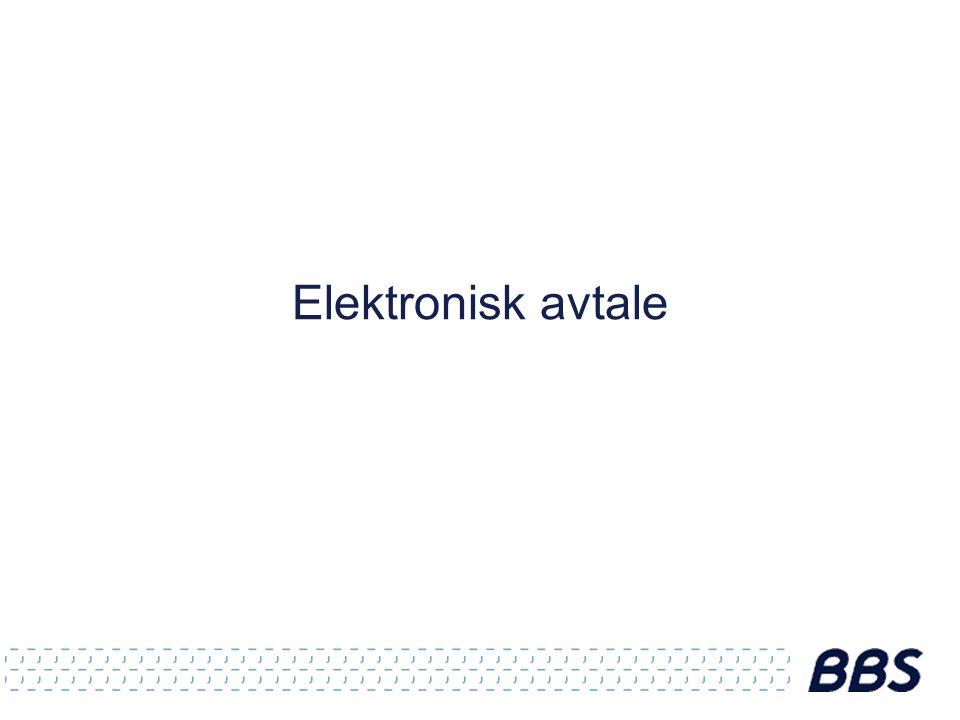 Elektronisk avtale