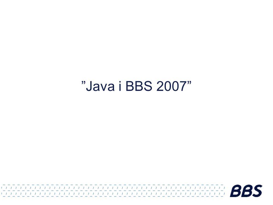 Java i BBS 2007
