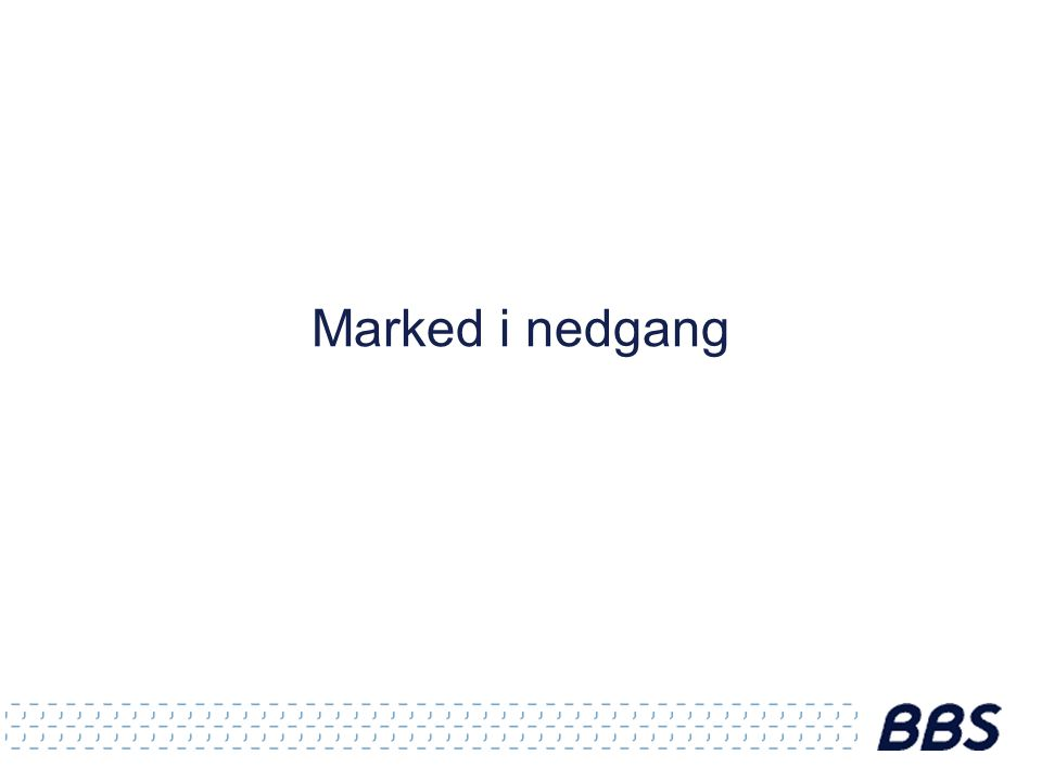Marked i nedgang
