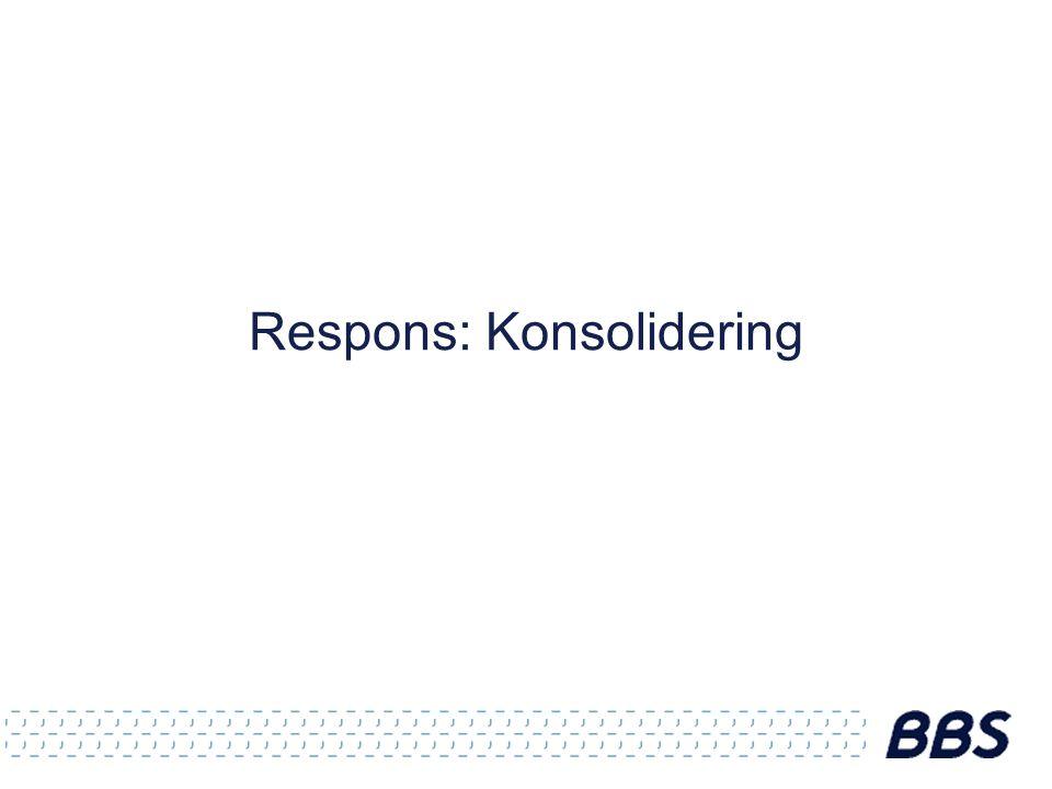 Respons: Konsolidering