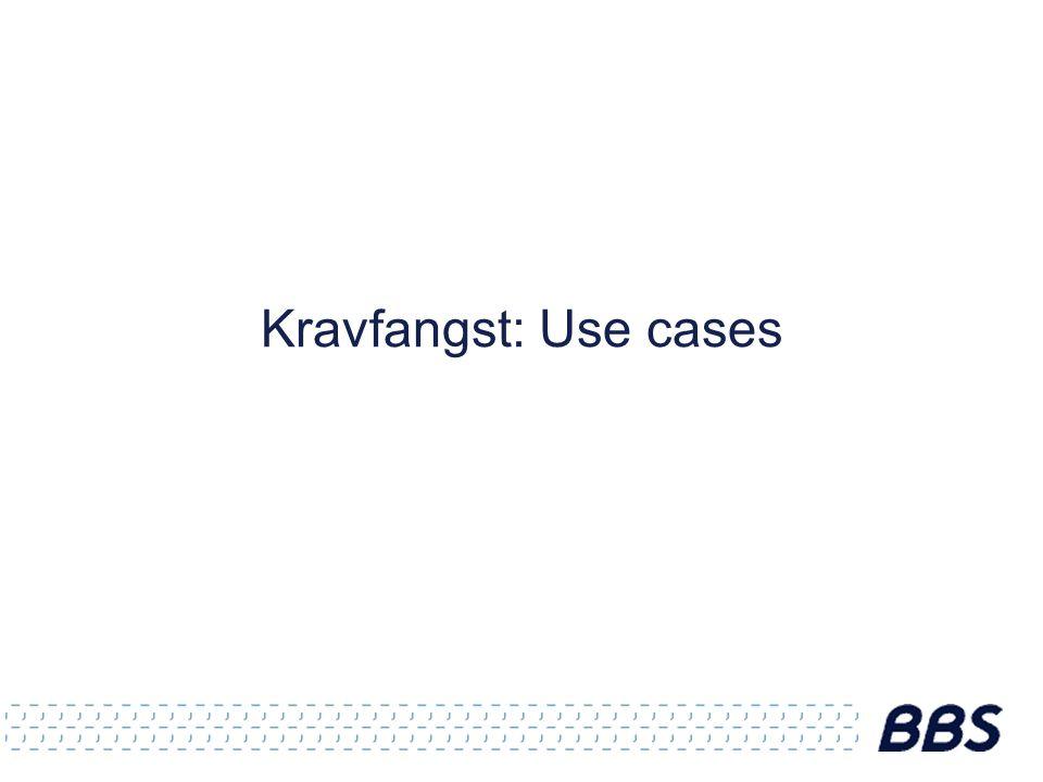 Kravfangst: Use cases