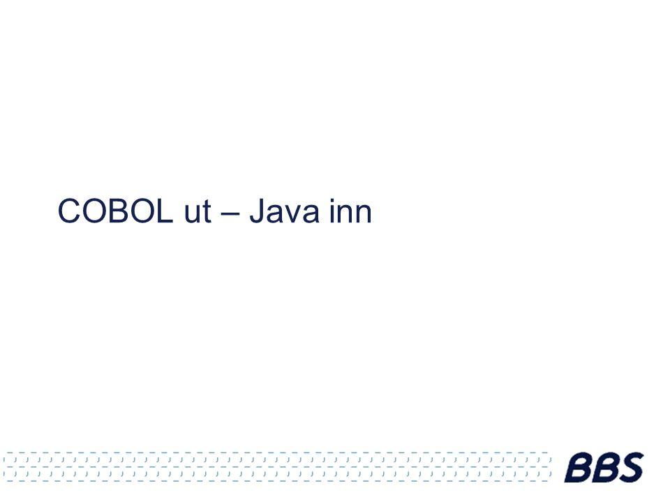 COBOL ut – Java inn