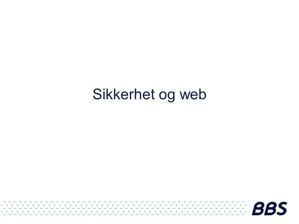Sikkerhet og web