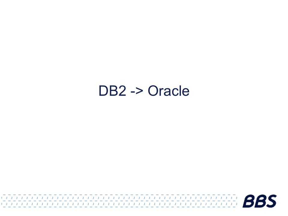 DB2 -> Oracle