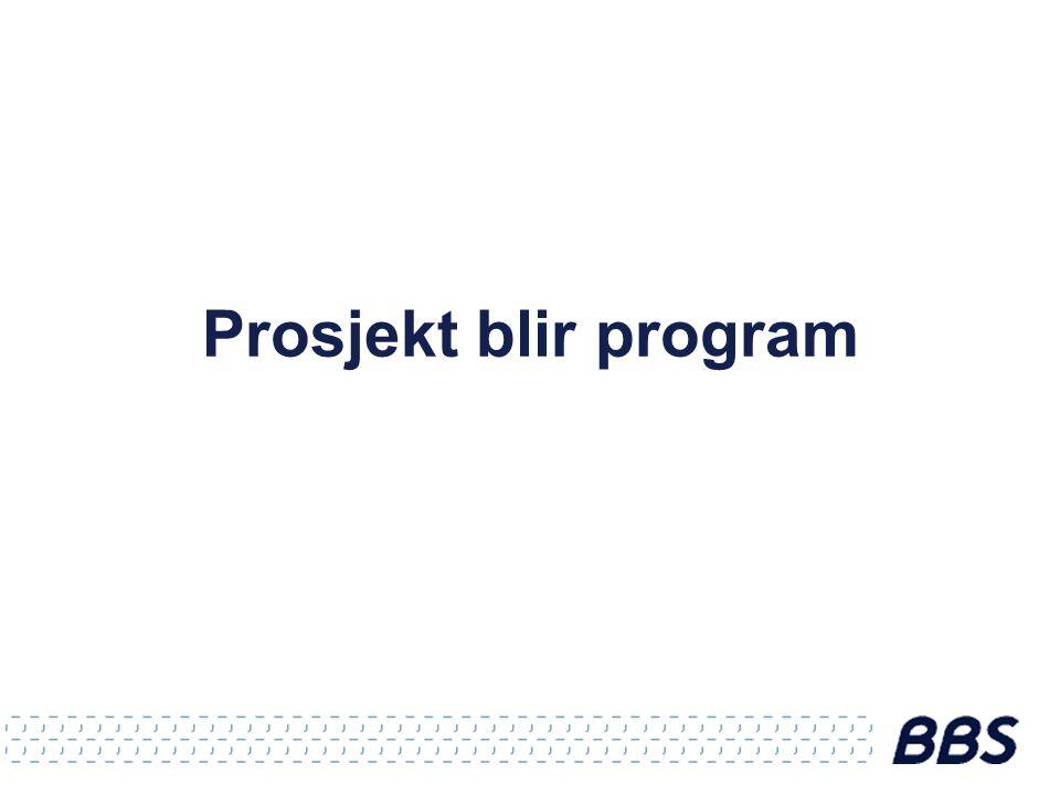 Prosjekt blir program
