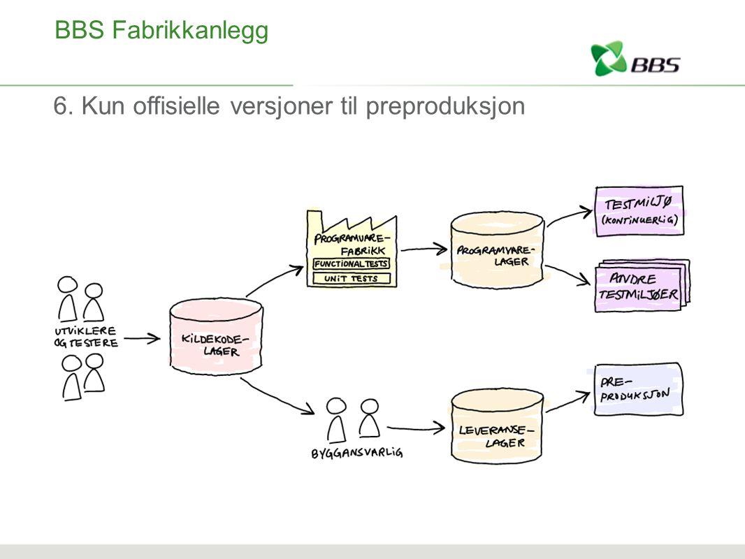 BBS Fabrikkanlegg 6. Kun offisielle versjoner til preproduksjon