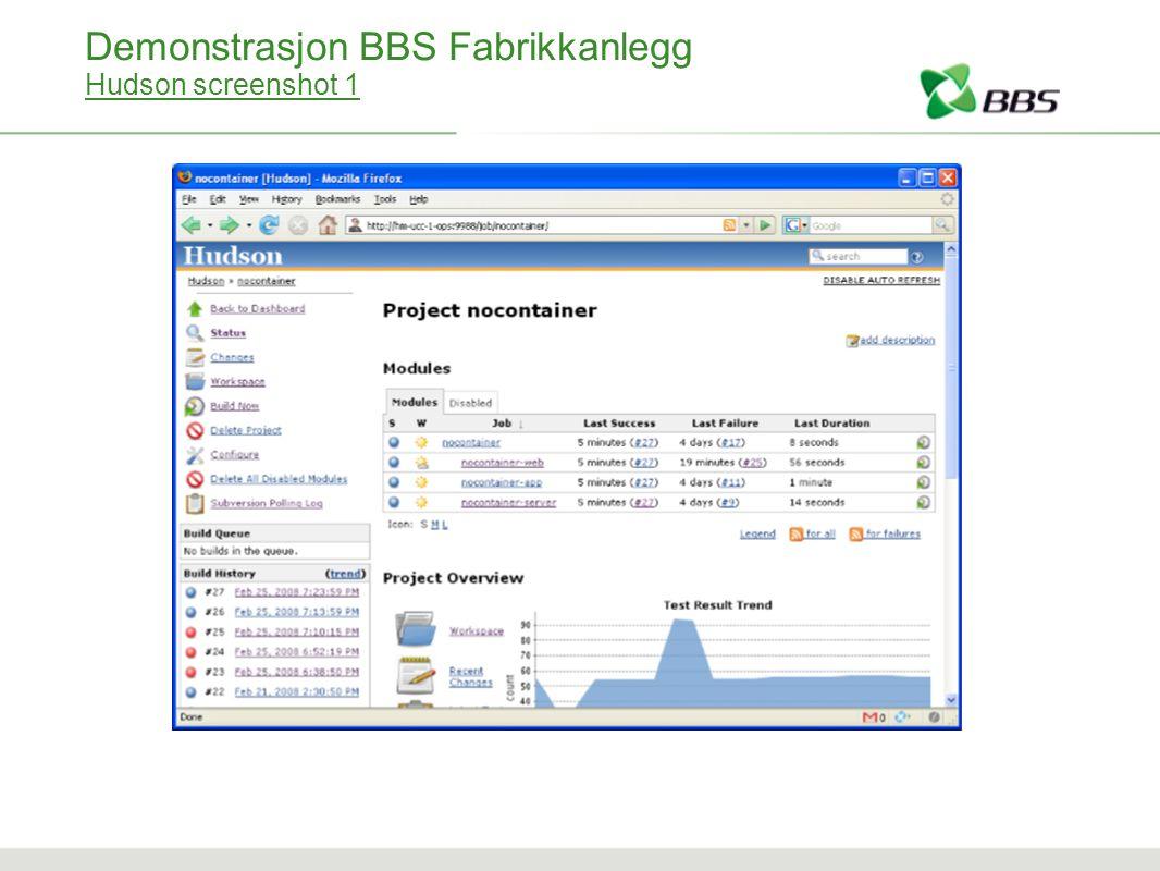 Demonstrasjon BBS Fabrikkanlegg Hudson screenshot 1