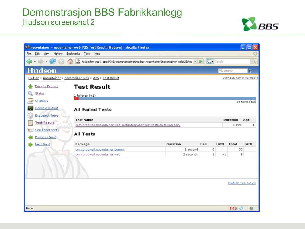 Demonstrasjon BBS Fabrikkanlegg Hudson screenshot 2