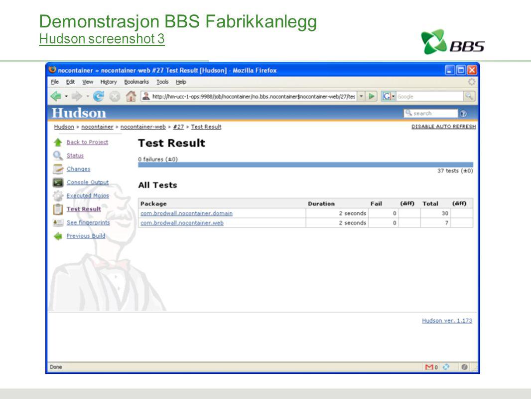 Demonstrasjon BBS Fabrikkanlegg Hudson screenshot 3