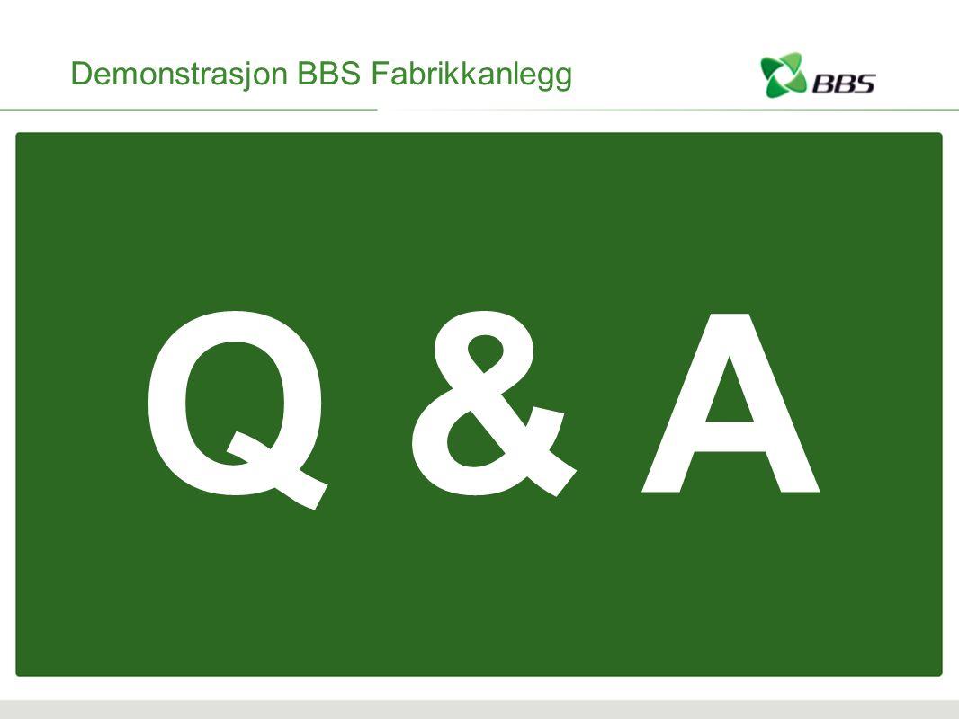 Demonstrasjon BBS Fabrikkanlegg Q & A