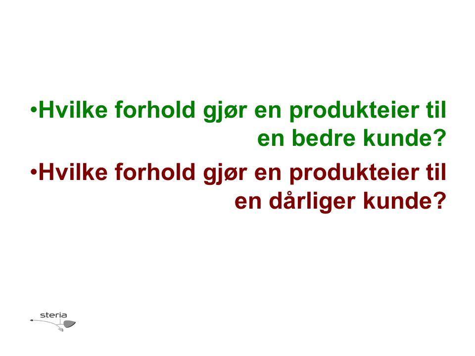 Hvilke forhold gjør en produkteier til en bedre kunde.