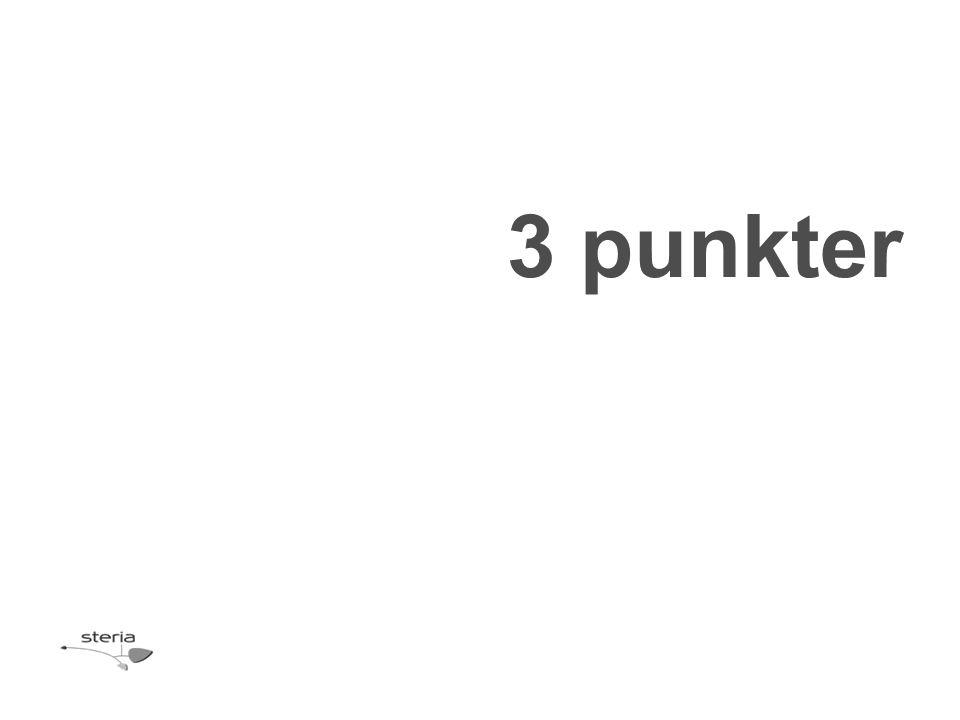 3 punkter