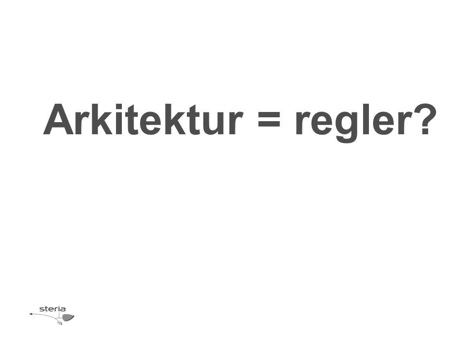 Arkitektur = regler?