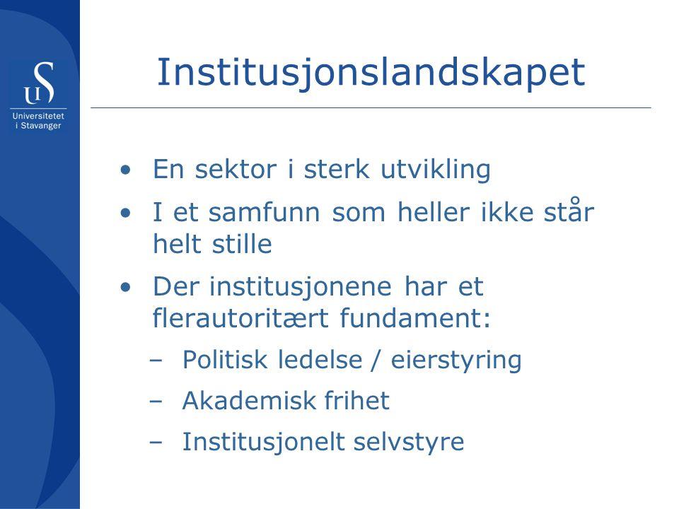 Hovedspørsmålet … om ordningen med institusjonsakkreditering er kvalitetsdrivende – om ordningen bidrar til å heve det samlede nivået i norsk høyere utdanning. … eller er det mest en 'opprykksordning' som gir status og fullmakter?