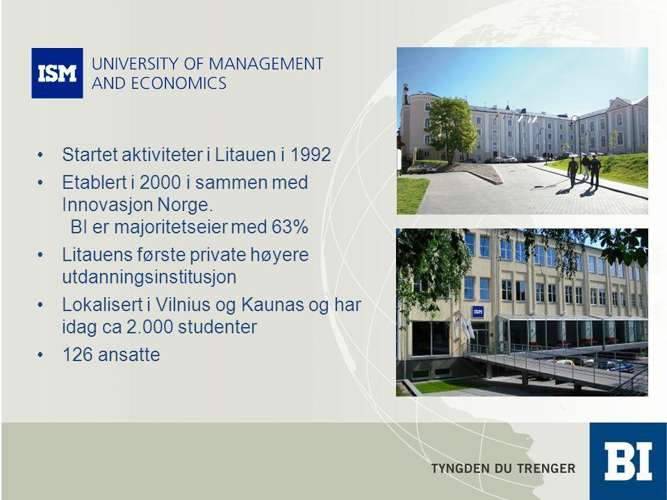 Startet aktiviteter i Litauen i 1992 Etablert i 2000 i sammen med Innovasjon Norge.