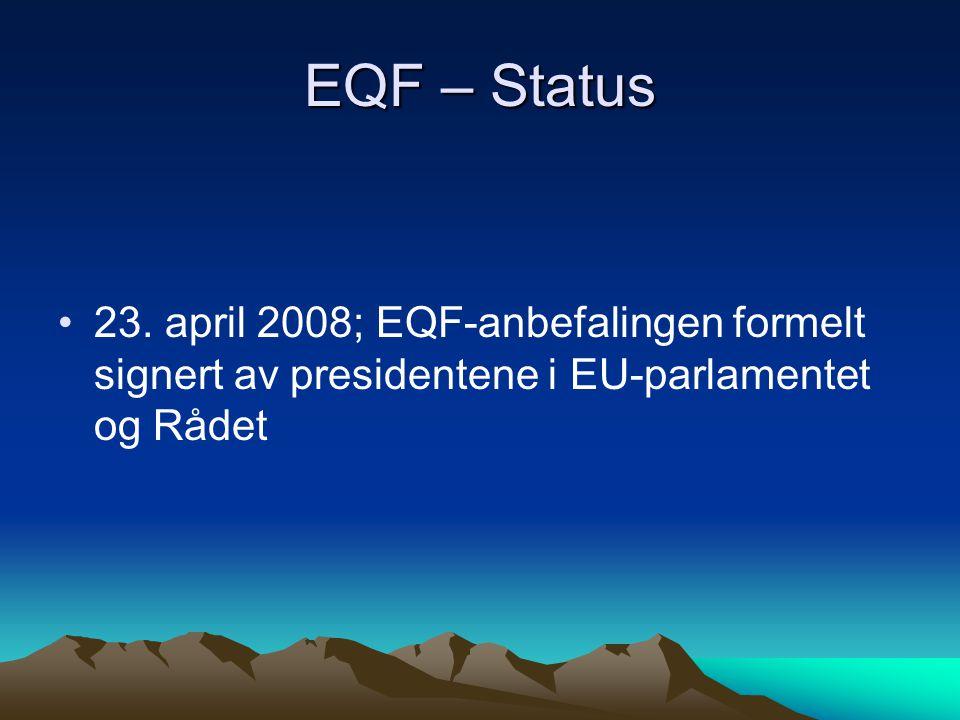 EQF – Status 23.