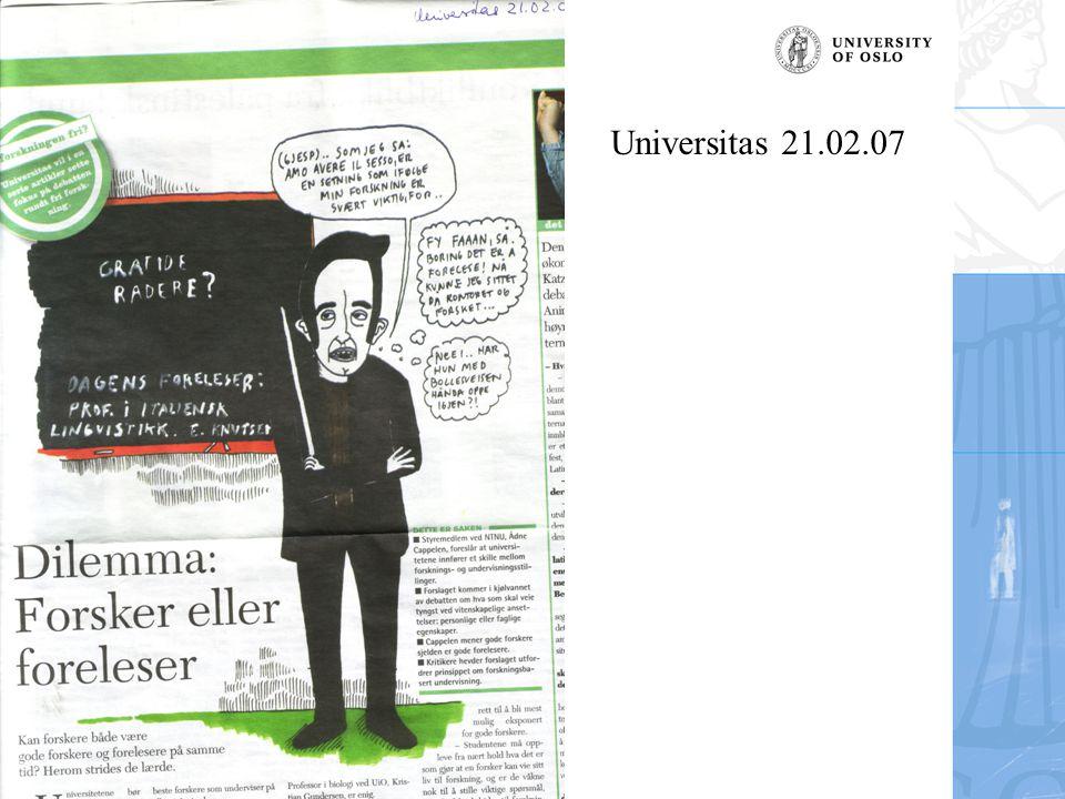 Britt-Ingjerd Nesheim Universitas 21.02.07
