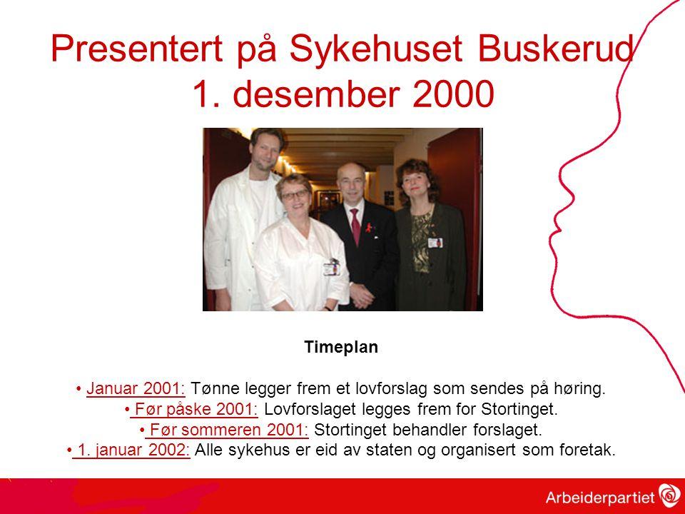 Presentert på Sykehuset Buskerud 1.