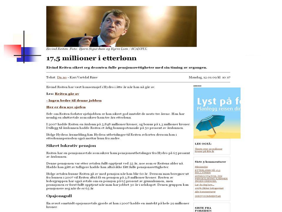 Offentlig tjenestepensjon fra 62.Ny folketrygd fra 62 år Ny AFP Ev.