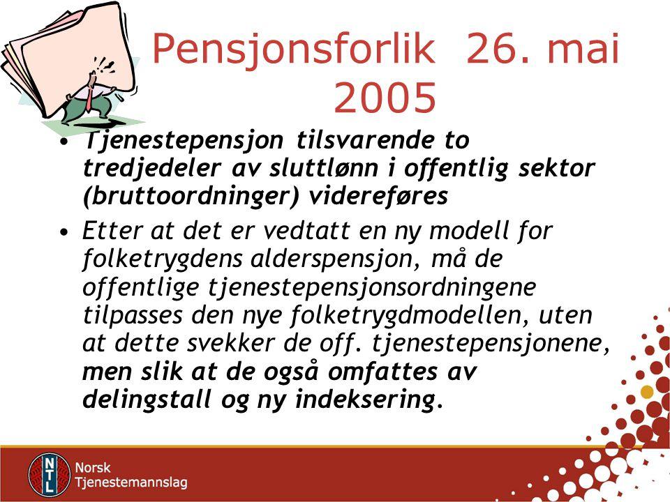 Pensjonsforlik 26.
