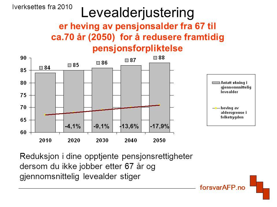 Indeksering Systematisk underregulering av utbetalt pensjon i forhold til lønns- utviklingen i samfunnet.